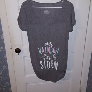 Maternity rainbow baby shirt